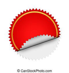 Round Red  sticker