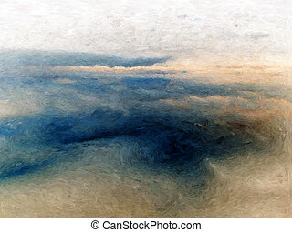 Abstract coastal painting - Abstract impressionist painting...