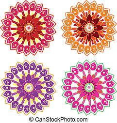 Flower set - Flower variety color