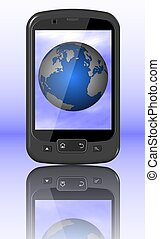 Mobile phone and World