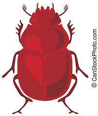 Scarab - Vector illustration of beetle scarab