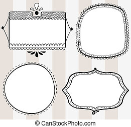Decorative hand-drawn frames - A set of four decorative...