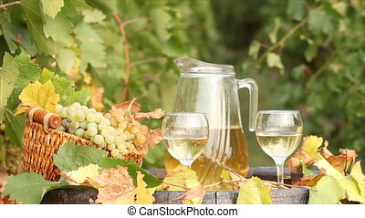 white wine autumn scene