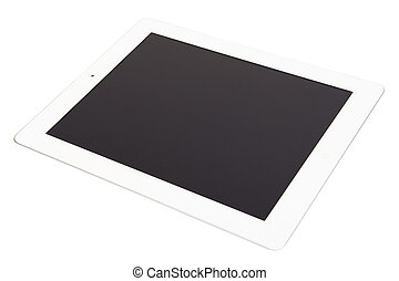 White tablet on the white background