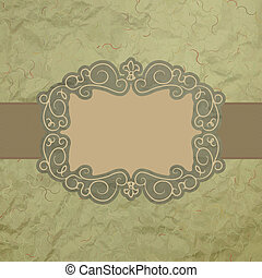 Template of vintage worn card. EPS 8