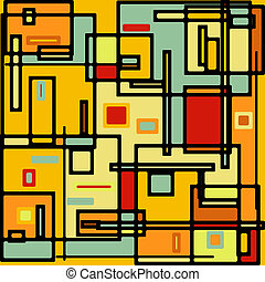 Abstract geometric colorful vector pattern. EPS 8 vector...