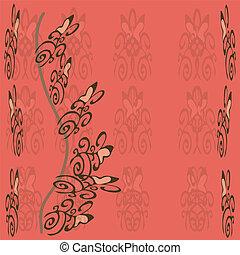 Postkaart, roos, achtergrond,  F