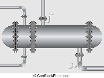 Heat exchanger - Apparatus, cooling or heating fluid in...