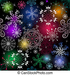 Seamless christmas pattern - Seamless black christmas...