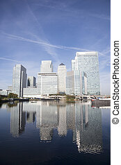 Canary Wharf Skyline - Office skyscrapers in Canary Wharf....