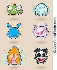 Angry animals anime - Angry, colorful, funny animals anime....