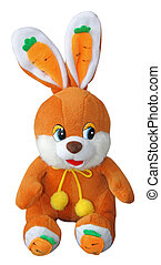 Teddy bunny  isolated over white background