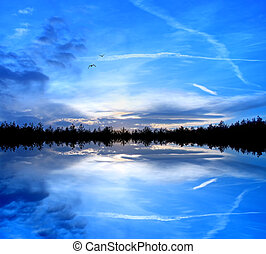 Nature in blue