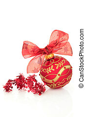 Christmas Decorations - Christmas ball decoration in red...