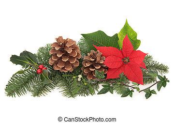 Christmas Flora and Fauna - Christmas decoration of...