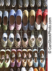 Dubai,Colourful Slippers In Souk