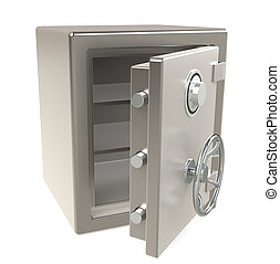 Open Safe - An open Safe with Combination lock