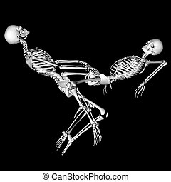 intense - skeletons in a sexual pose intended as a prank for...