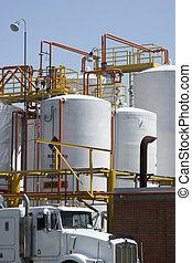 Chemical Storage Tank And Tanker Truck - Chemical Industry,...