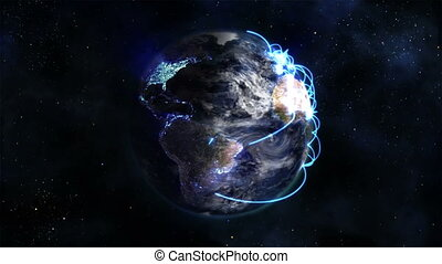 Shaded and lighted Earth with blue
