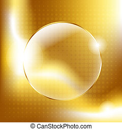 Gold Background With Gold Glass Balls