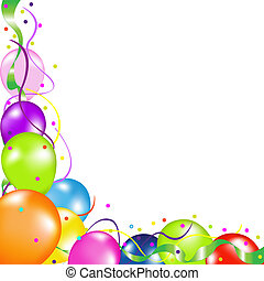Background With Balloons - Colorful Party Balloons, Isolated...