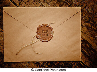 top secret envelope with stamp - Mail envelope with a stamp...