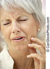 Senior Woman With A Toothache