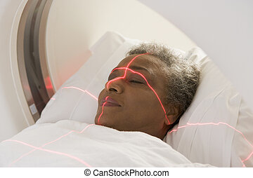 Patient Having A Computerized Axial Tomography (CAT) Scan