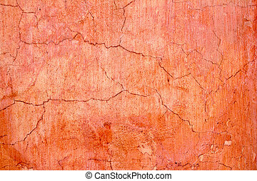 grunge wall cracked texture in orange red colors