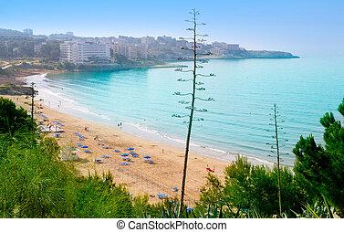 largo, playa, Platja, larga, Salou, Tarragona