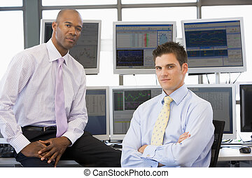 Portrait Of Two Stock Traders