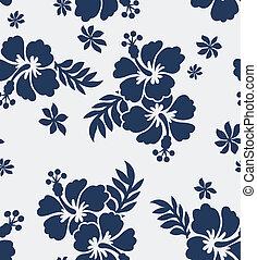 seamless, flor, tecido, Padrão