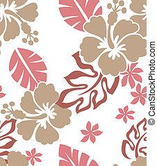 seamless, flor, tela, patrón