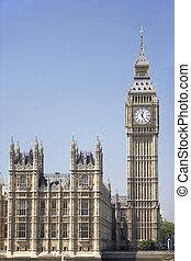 grande, Ben, y, Casas, de, Parlamento, londres, inglaterra