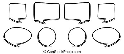 bw speech bubble - black and white speech bubbles