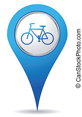 bike location icons - blue bike location icon