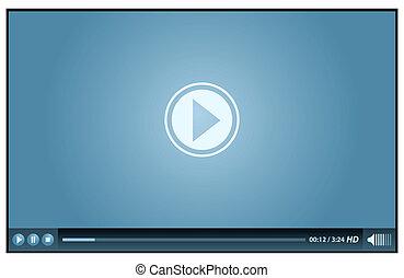 vídeo, jogador
