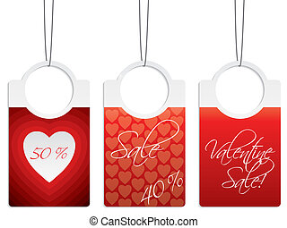 Valentine day sale labels