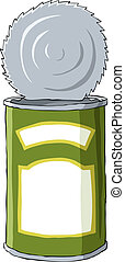 Tin on a white background, vector illustration