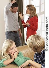 Argument, Kinder, eltern,  Front, Daheim, Haben