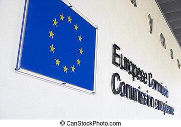 exterior, de, europeu, comissão, predios