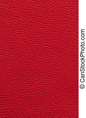 Red leather background - Red natural leather background or...