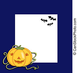 frame of Halloween with the pumpkin