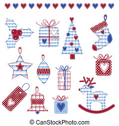 New year\'s Scrapbook elements