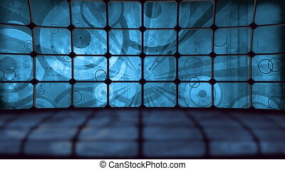 Retro Grunge Screens Backdrop
