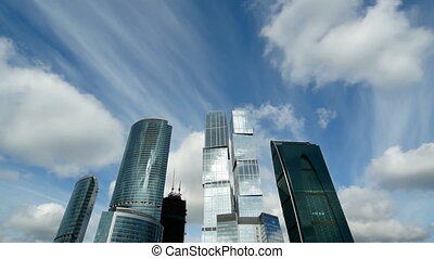 Moscow City and sky