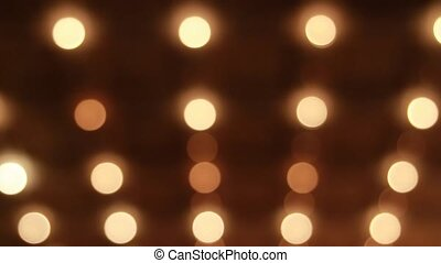 Out-of-Focus Bokeh Broadway Theater Marquee Dancing Lights...