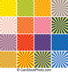 retro background set - vector retro background set