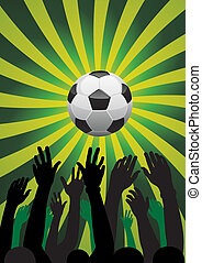 soccer background - vector soccer background